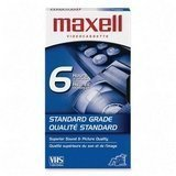 Maxell T-120 VHS 6-Hours High Quality Videocassette - 10 Pack