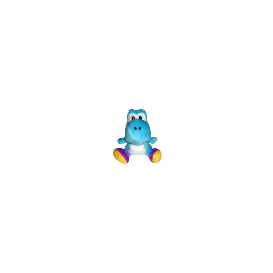 Super Mario Bros. Wii Plush   Light Blue Yoshi Toys