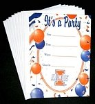 NCAA Illinois Fighting Illini 8-Pack Party Invitations & Envelopes customize white laser cut lace ribbons bow wedding invitation kit blank printing invitations card set green inside paper