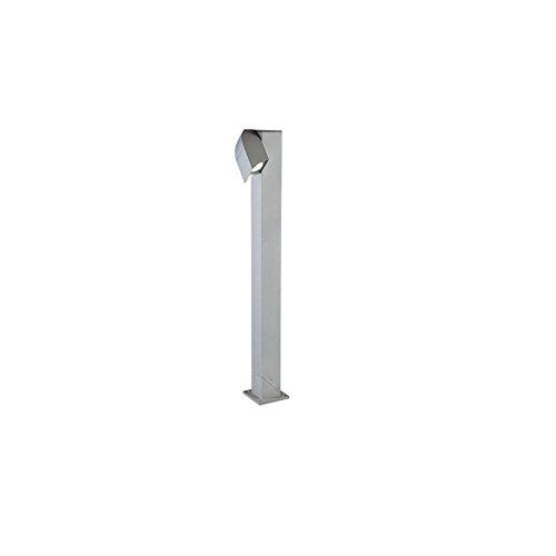 Lampione a una luce orientabile con Struttura in pressofusione di alluminio Trattamento anticorrosivo Verniciatura a polveri epossidiche Diffusore in vetro trasparente
