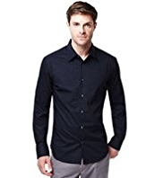 Autograph Cotton Rich Classic Collar Shirt