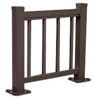 CRL Matte Bronze 100 Series Aluminum Picket Railing System Small Showroom Display- No Base by CR Laurence