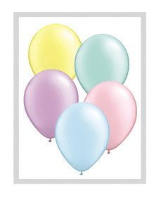 """Qualatex 11"""" Round Balloons, Pastel Pearl Assortment - Pack of 100"""