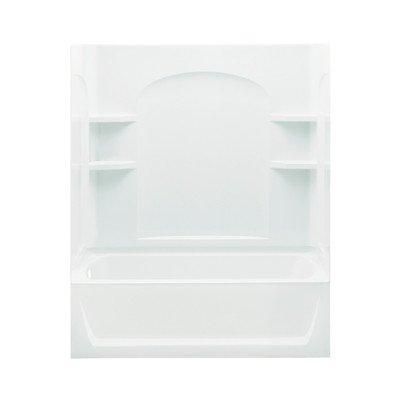 Ensemble Bath/Shower Kit Base Finish: High Gloss White, Drain Configuration: Left Hand