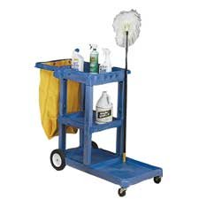 Continental Mfg. Co. Products - Janitorial Cart, w/ 25 Gallon Bag, 55