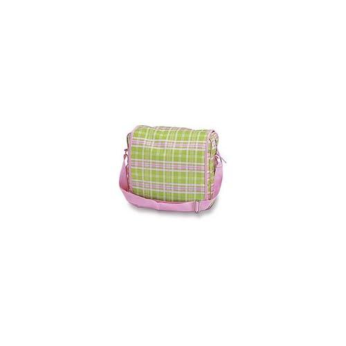 Pink Plaid Messenger Bag