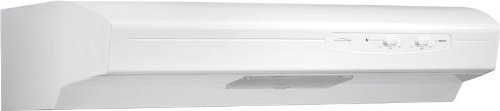 Broan QSE130WW Under Cabinet Range Hood, White, Energy Star, 30-Inch, White