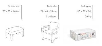 Keter M292584 - Conjunto ratan resina tarifa balcony blanco
