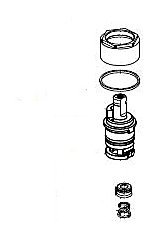 Delta RP64772 Talbott Stem Unit Assembly, Seat and Spring, Bonnet Nut and Washer, Chrome