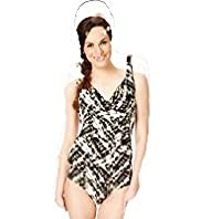 Abstract Animal Print Underwired Swimsuit