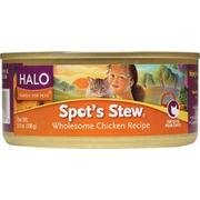 Halo Purely F Original Pets Spots Stew Cat Chicken 5.50-Ounce (Pack Of 12)
