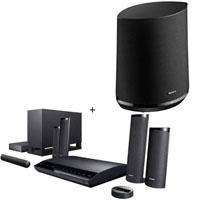 .: Sony BDVE780W 3D Blu-Ray Home Theater System, 1000 Watts, Built-In Wi-Fi, Internet Video Streaming, Full HD 1080p Playback, Black - Bundle - with Sony Wi-Fi HomeShare Network Speaker