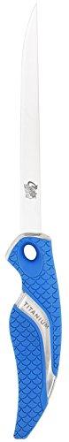 Cuda 6-Inch Titanium Bonded Flex Fillet Knife, Blue