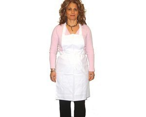White Chef Apron (with pocket) - One Dozen (12-pack)