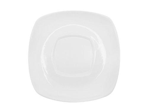 CAC China KSE-55 Kingsquare 4-1/2-Inch Super White Porcelain Square Saucer, Box of 36