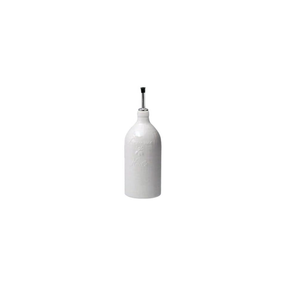 Revol Grands Classiques Collection, 10 1/2 Inch Pistou Olive Oil Bottle, Creamy White