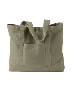 Canvas Backpacks:Authentic Pigment Large Canvas Tote bag, khaki green, One Size