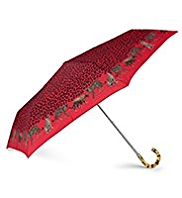 Per Una Leopard Crook Handle Umbrella