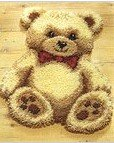 "Latch Hook Rug Kit ""Cuddly Teddy Bear"" 52 x 45cm Shaped"