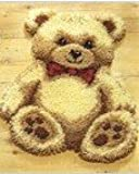 """Latch Hook Rug Kit """"Cuddly Teddy Bear"""" 52 x 45cm Shaped"""