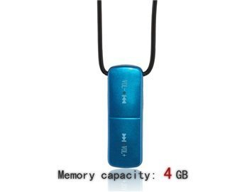 3.5Mm 4G Statistics Tangible Necklace Mp3 Player (Blue)
