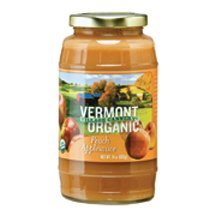 Vermont Village Organic Peach Applesauce, 24 Ounce -- 6 Per Case.