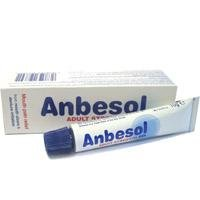 Anbesol Adult Strength Gel For Mouth Ulcers & Denture Irritation 10g