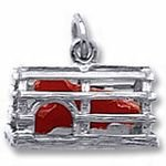 Rembrandt Charms Lobster Trap Charm - Sterling Silver