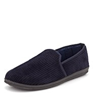 Freshfeet™ Slip-On Corduroy Slippers with Silver Technology