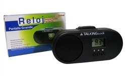 Talking Alarm Clock-Spanish Speaking, (Español Hablar) Big Clear Display,(Pantalla Grande), Chime, (Hacer Sonar) or Rooster Sound (Sonido Gallo)
