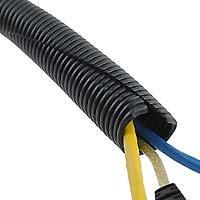 Wire Loom Black 20′ Feet 1/4″ Split Tubing Conduit Hose Cover Auto Home Marine