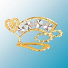 Heart With Rainbow Table Decor ..... With Clear Swarovski Austrian Crystals - 1