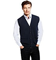 Blue Harbour Extrafine Pure Lambswool 5 Button Waistcoat