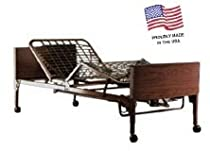 Hot Sale Full Electric Home Care Bed with Rails & Mattress