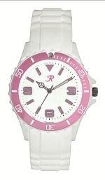 Reflex White and Pink Silcone Strap Ladies Sports Watch SR016