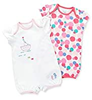 2 Pack Pure Cotton Boat & Spotted All-in-Ones