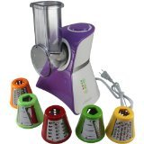 Cooks Club USA VC02SPU Salad Maker Food Processor, Mini, Purple