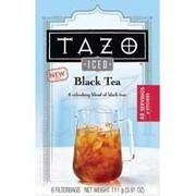 Tazo Iced Black Filtered Tea - 6 Bags Per Pack -- 4 Packs Per Case.