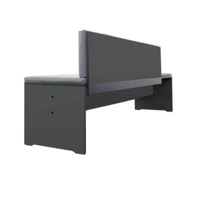 Riva Bank 216 cm mit Lehne – anthrazit kaufen