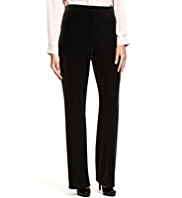 M&S Collection Wide Leg Velour Trousers