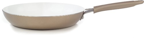 WearEver C94405 Pure Living Nonstick Ceramic Coating Scratch Resistant PTFE PFOA and Cadmium Free Dishwasher Safe Oven Safe Saute Pan Fry Pan Cookware, 10.5-Inch, Gold (Wearever Ceramic Frying Pan compare prices)