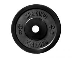 Kraiburg 45 lb Rubber Bumper Weight Plates for Crossfit Powerlifting, One Pair (Eleiko Bumper Plates compare prices)