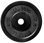 Kraiburg 45 lb Rubber Bumper Weight Plates for Crossfit Powerlifting One Pair