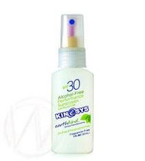 KINeSYS Travel Size Fragrance-free SPF 30+ Sunscreen Spray with Parsol 1789 30 ml / 1 oz.