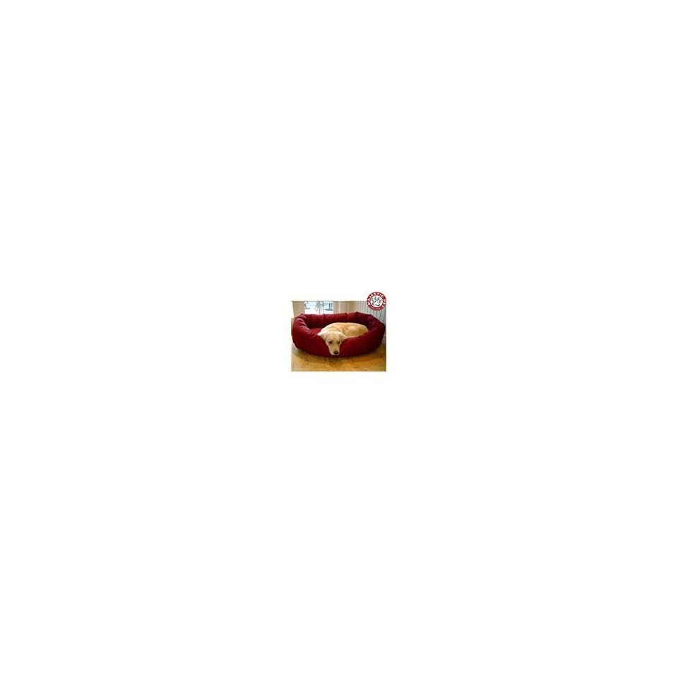 Majestic Pet Small 24 Bagel Dog Bed (24x22x9) BURGUNDY