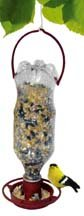 Hanging Soda Bottle Wild Bird Feeders, Terra Cotta, Set of 6 MADE IN USA