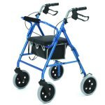 Roma Lightweight 4 Wheeled Walker/Rollator with 8