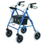 Roma Lightweight 4 Wheeled Walker/Rollator with 8