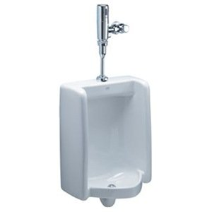 Zurn Z5758.205.00 1-Pint Per Flush High Efficiency Urinal System Top Spud Enlarged Footprint Urinal with Exposed Battery Flush Valve