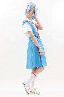 エヴァンゲリオン風 本格的コスプレ衣装 第三新東京市立第壱中学校女子制服 (Lサイズ)
